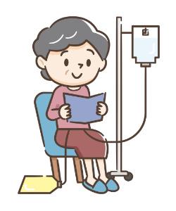 腹膜透析を受ける女性のイラスト