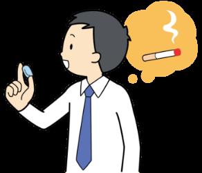 禁煙外来の治療を行う男性のイラスト